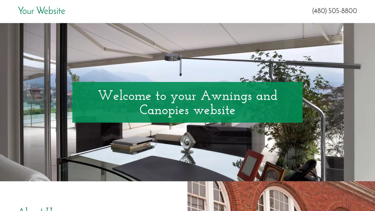 Awnings And Canopies Example 6