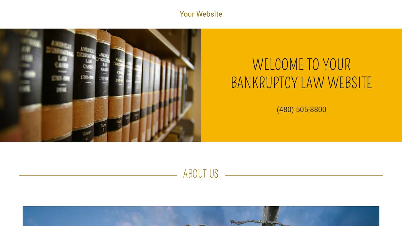 bankruptcy law website templates godaddy