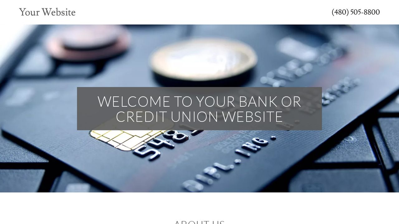 Bank or Credit Union Website: Example 10