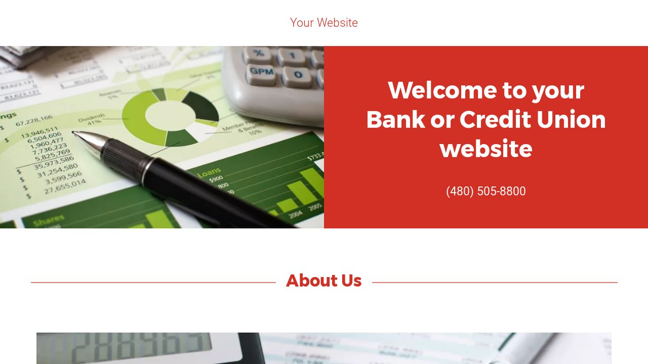 Bank or Credit Union Website: Example 12