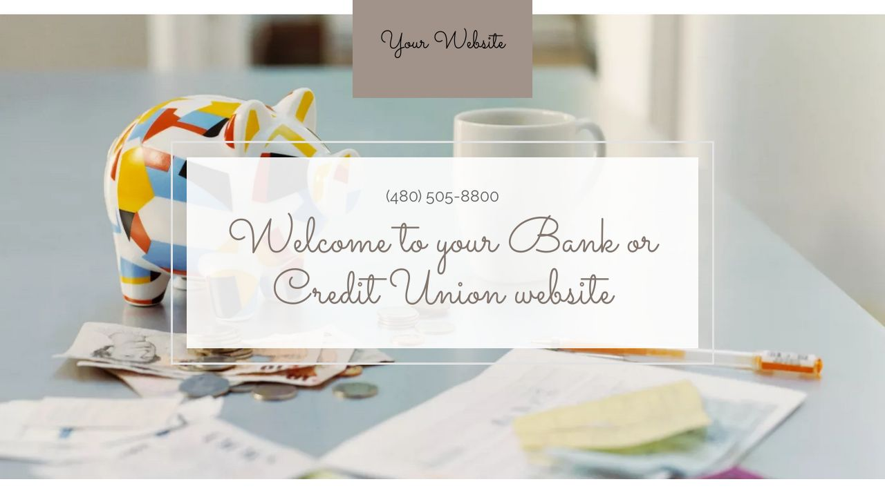 Bank or Credit Union Website: Example 18