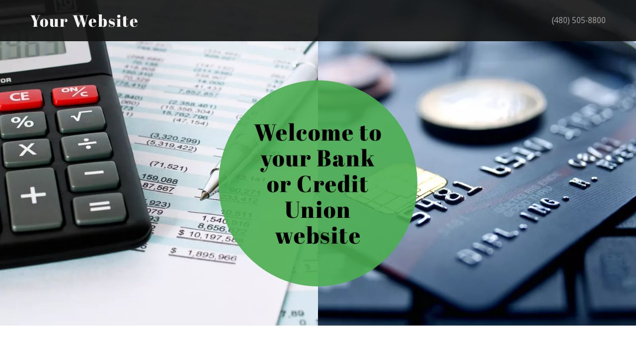 Bank or Credit Union Website: Example 2