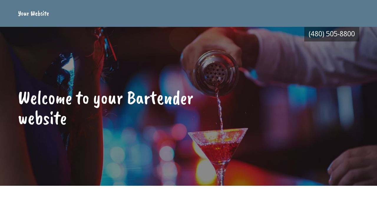 bartender website templates godaddy