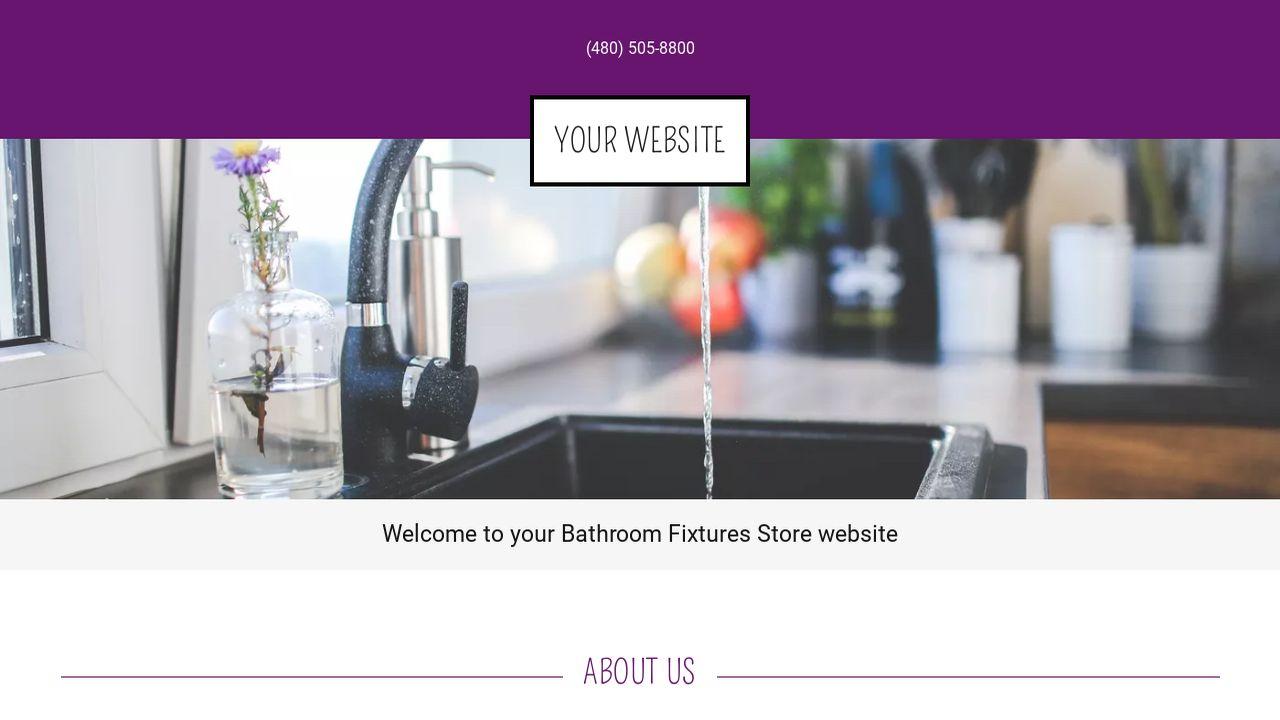 Example 3 Bathroom Fixtures Store Website Template Godaddy