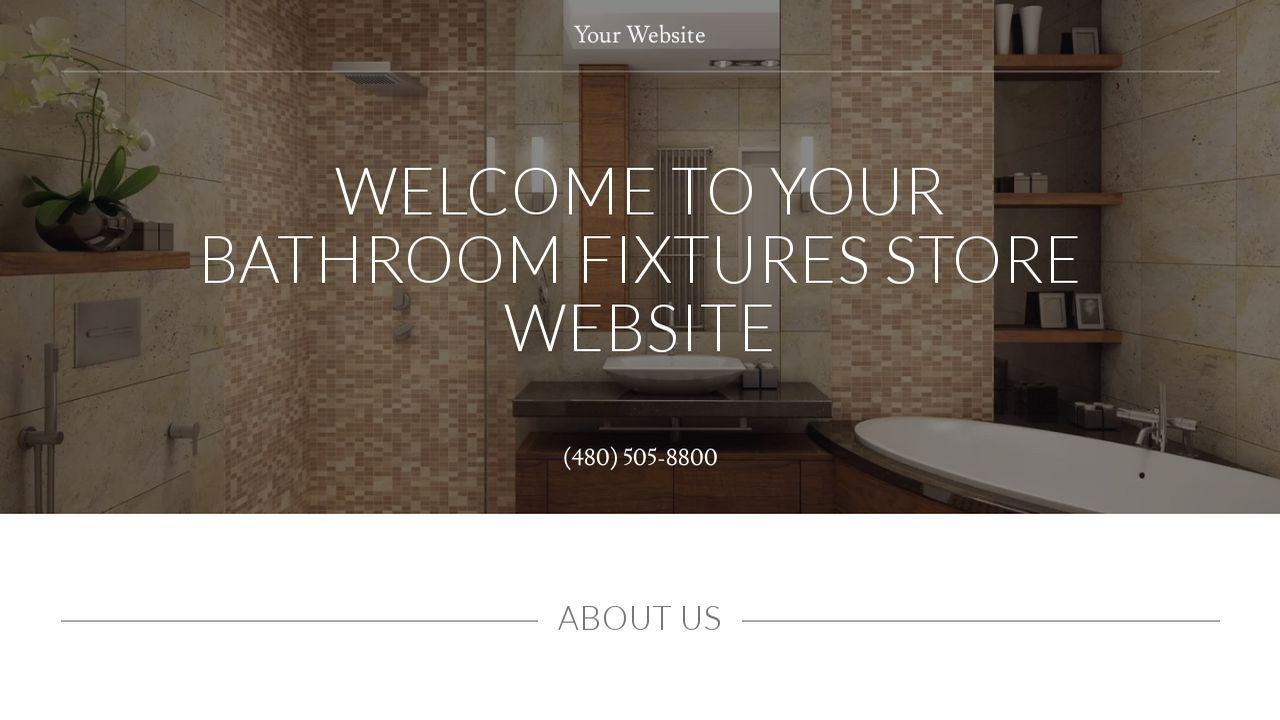 Bathroom Fixtures Stores bathroom fixtures store website templates   godaddy