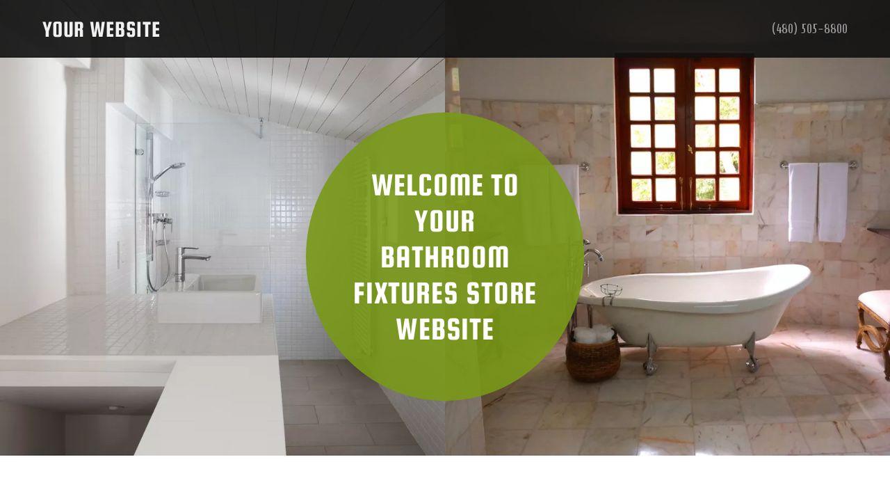 Bathroom Fixtures Store Website Templates | GoDaddy