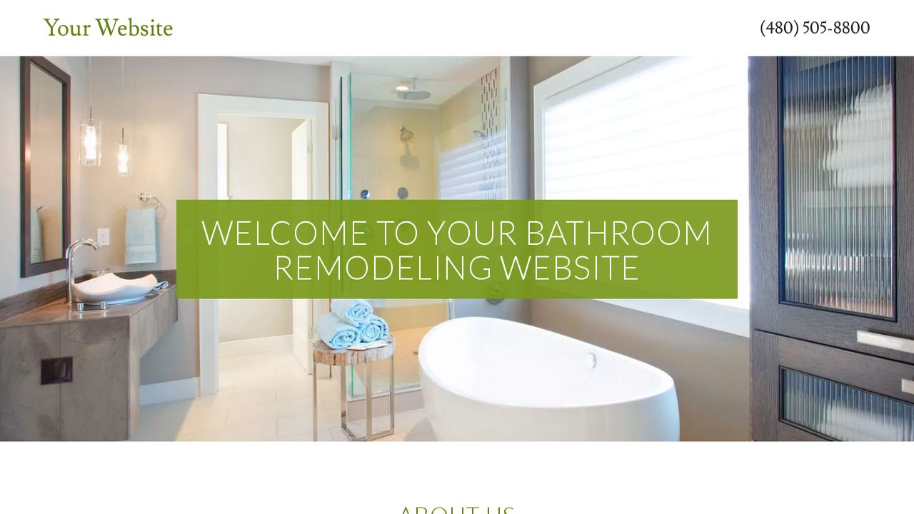 Bathroom remodeling website templates godaddy for Bathroom examples