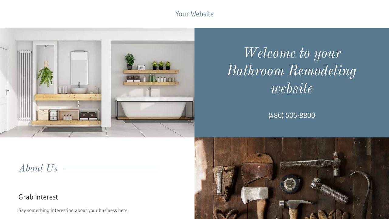 Bathroom Remodeling Website Templates | GoDaddy