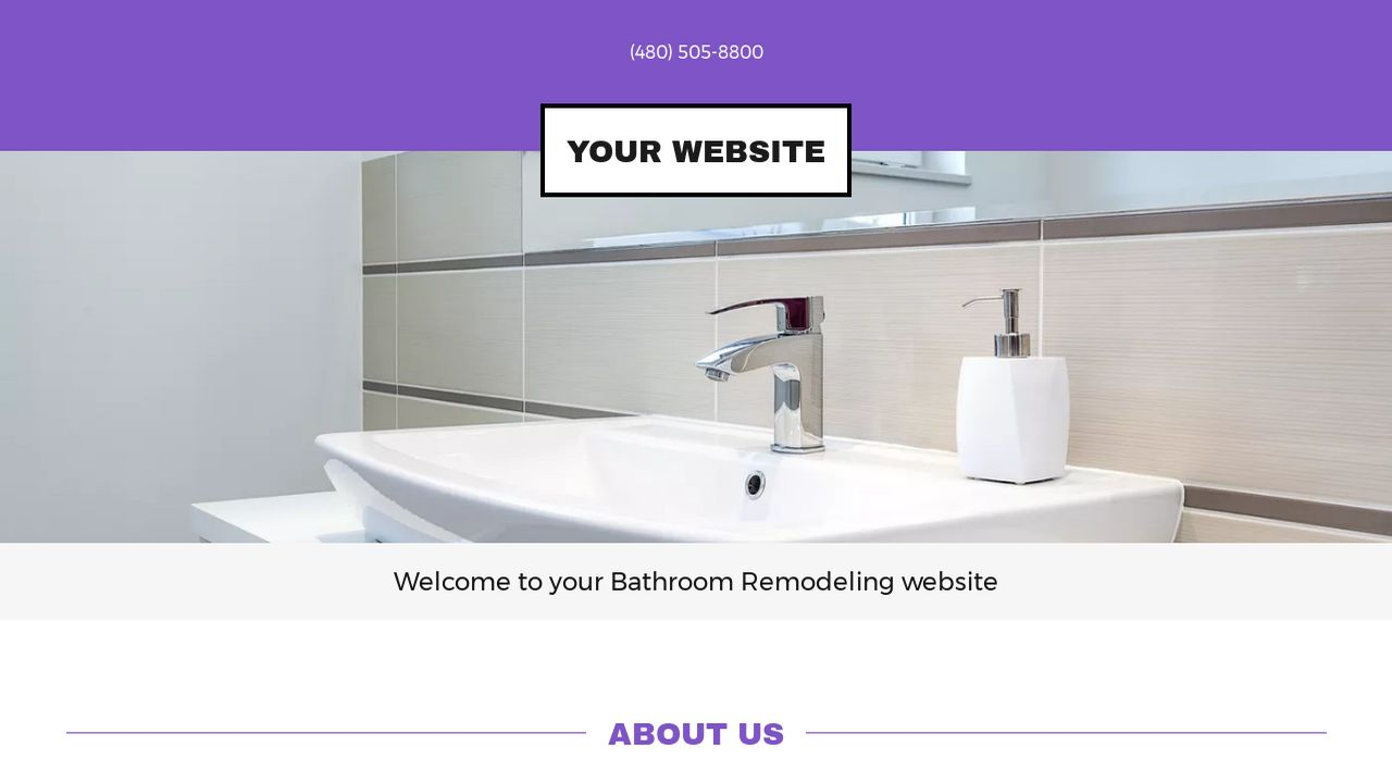 Example 11 bathroom remodeling website template godaddy for Examples of bathroom remodels