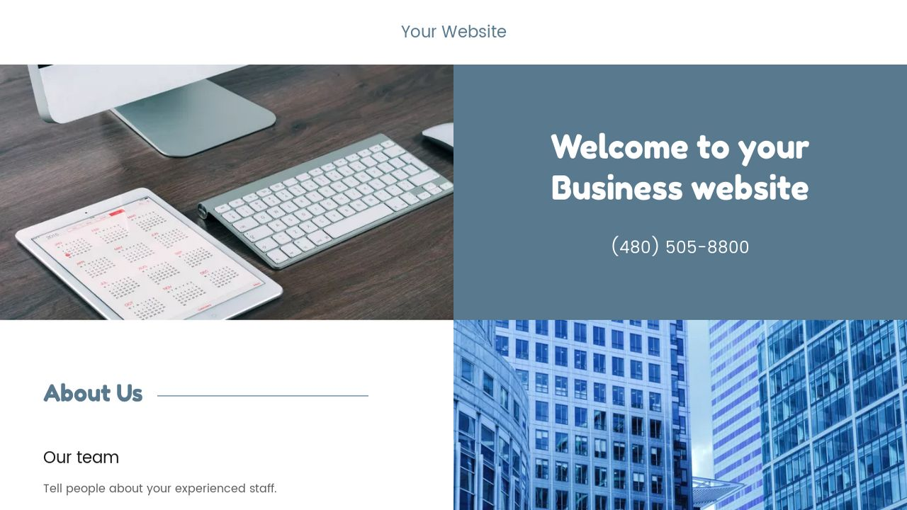 Business Website: Example 1