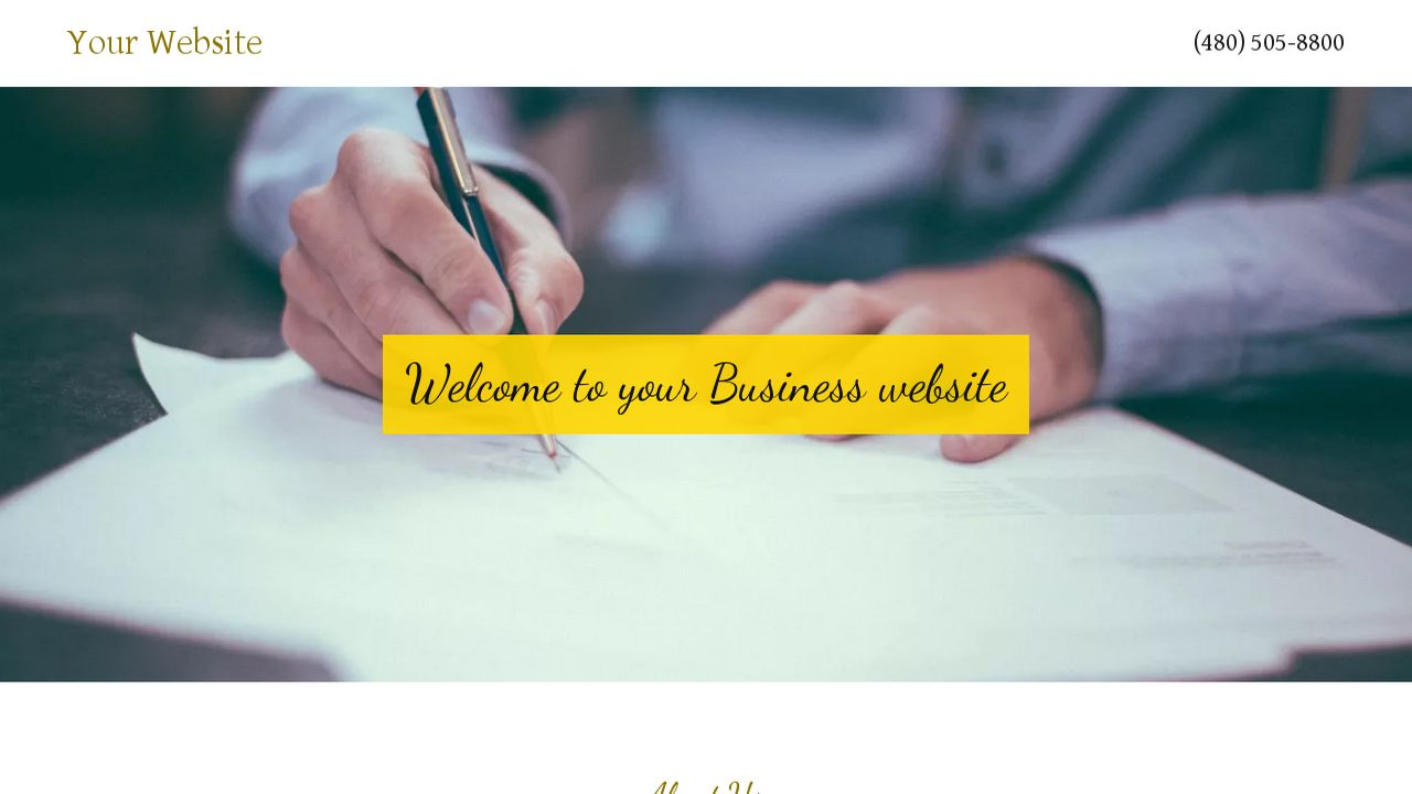 Business Website: Example 10