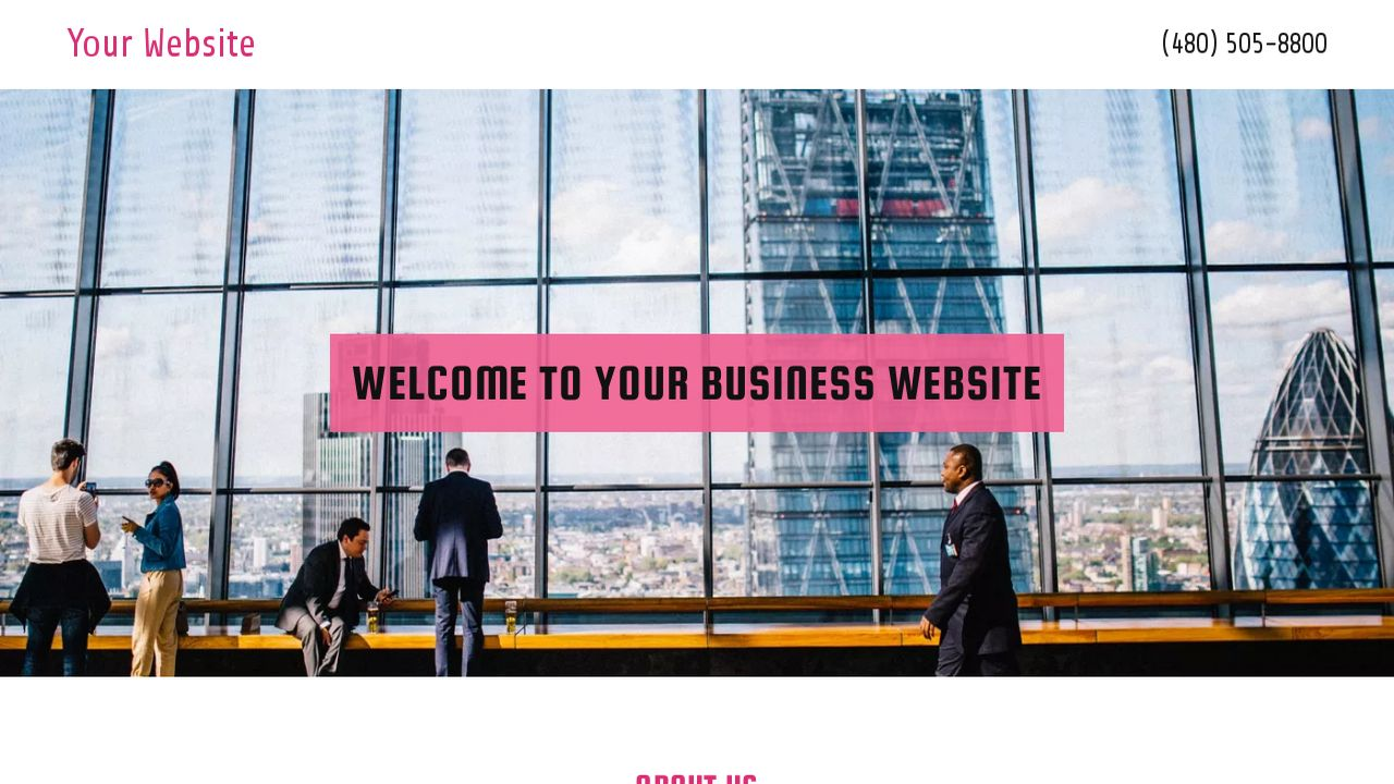 Business Website: Example 3