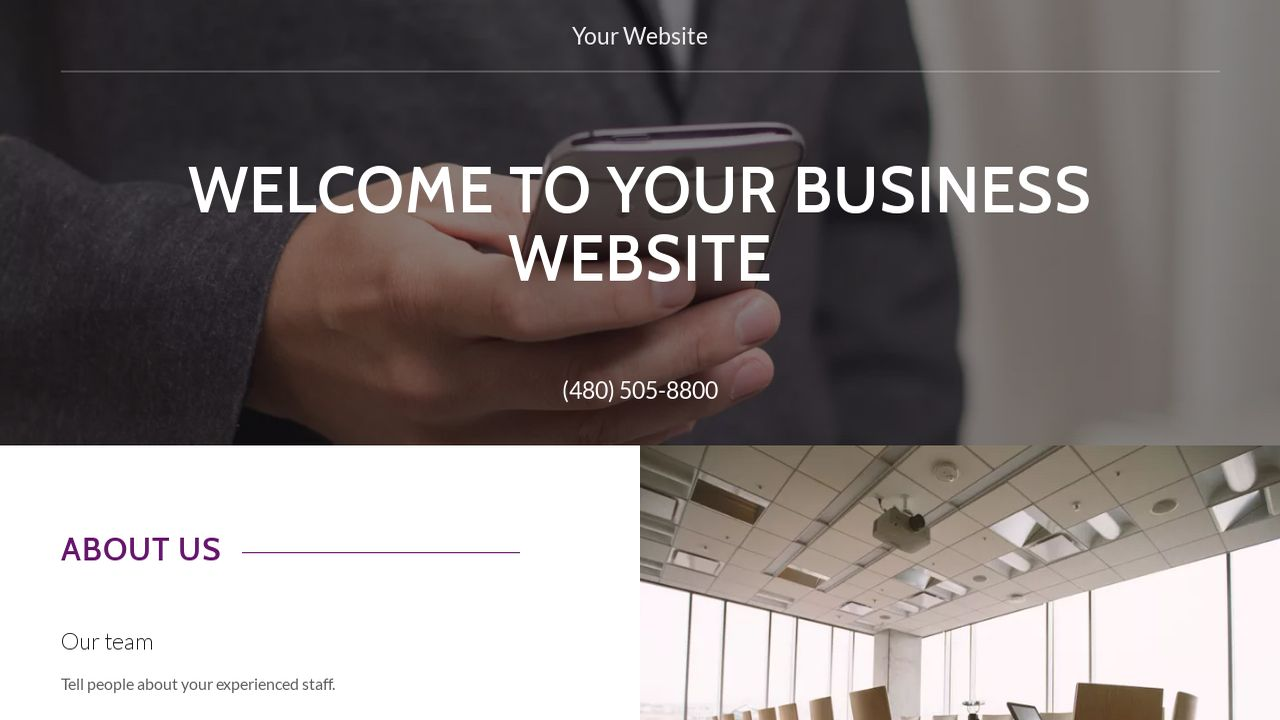 Business Website: Example 6