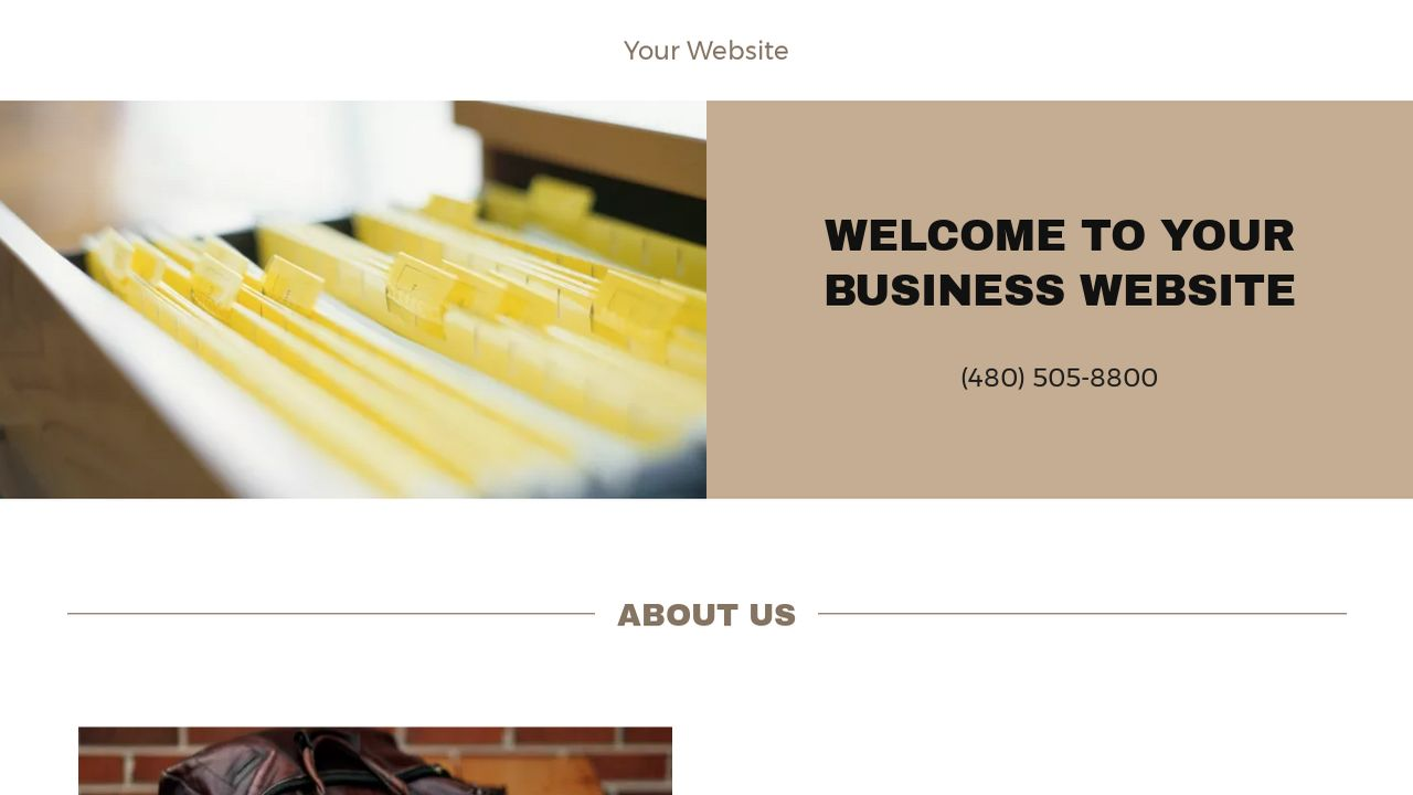 Business Website: Example 8