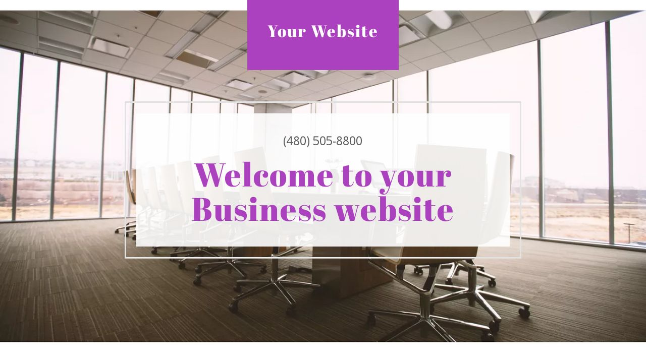Business Website: Example 9