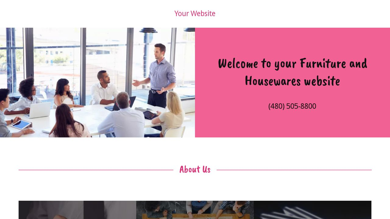 example 16 furniture and housewares website template godaddy
