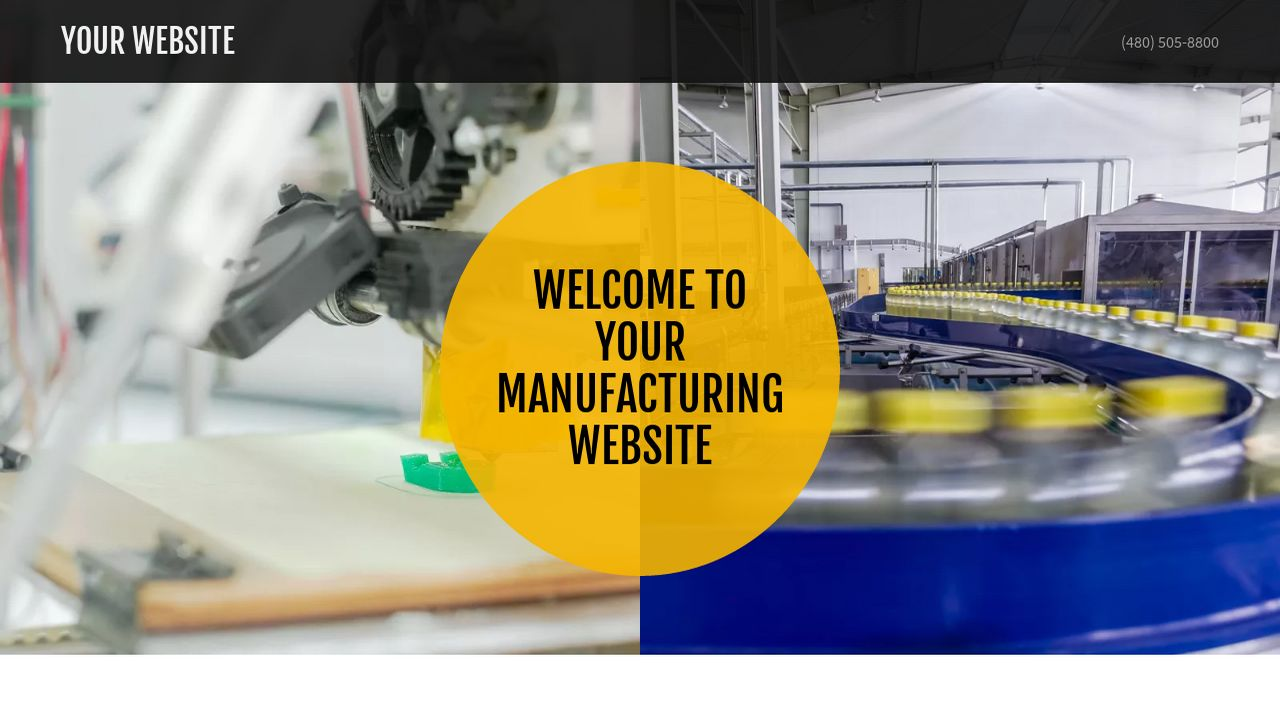 Manufacturing Website: Example 10