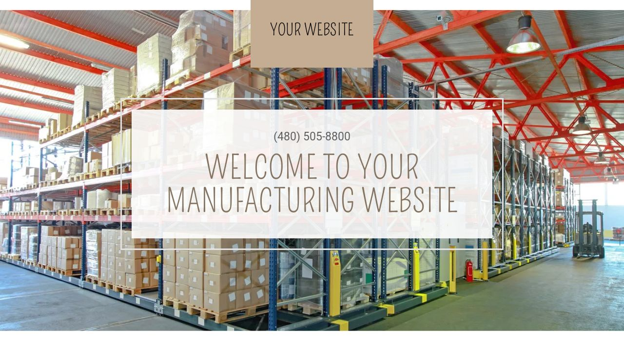 Manufacturing Website: Example 11