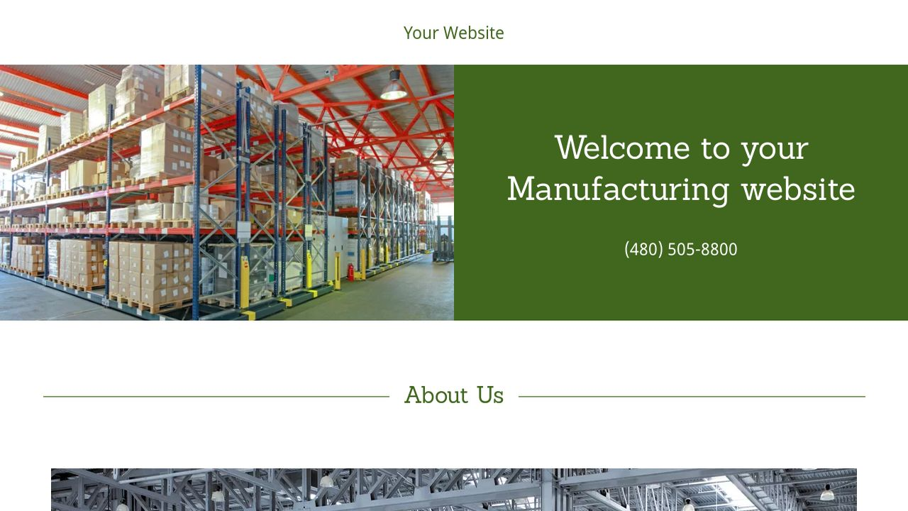 Manufacturing Website: Example 12
