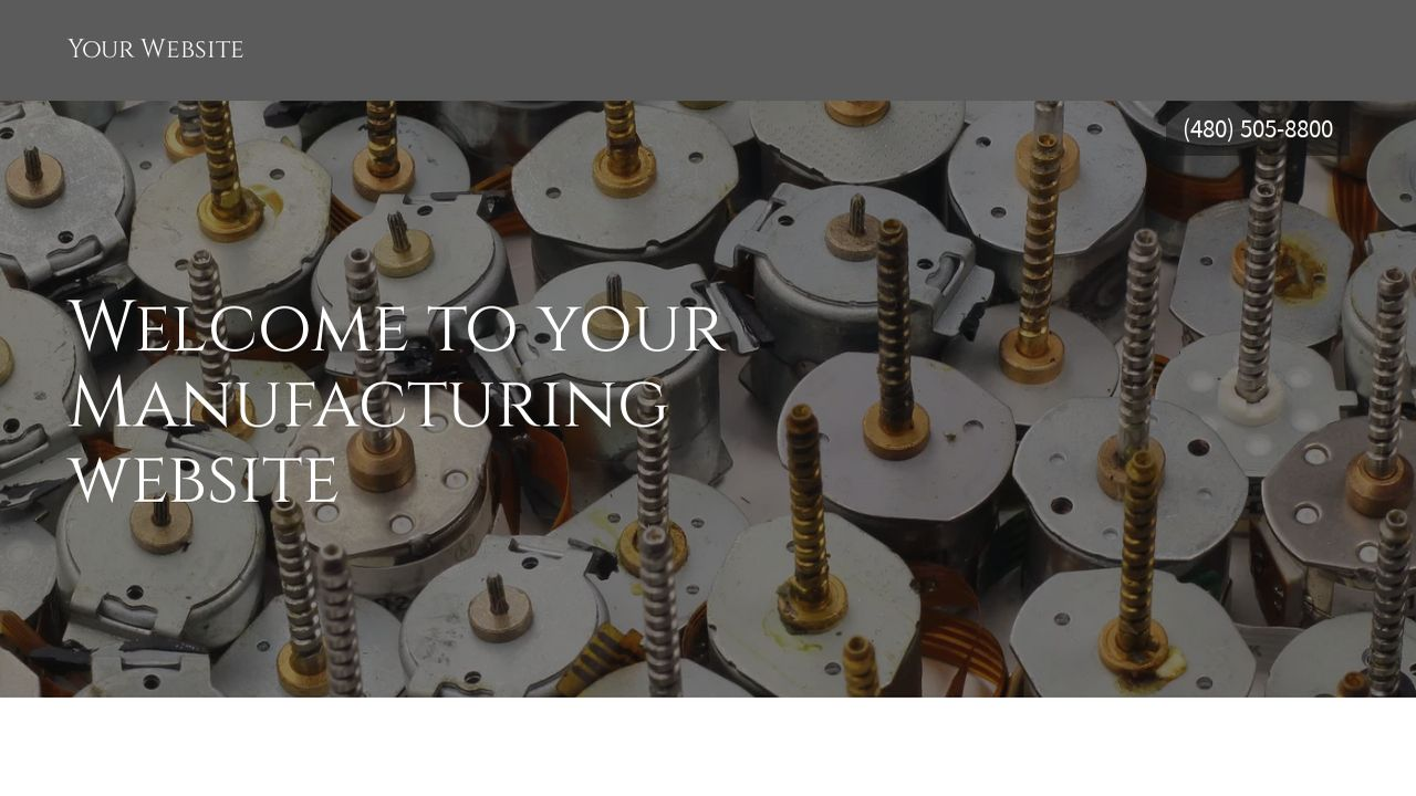 Manufacturing Website: Example 15