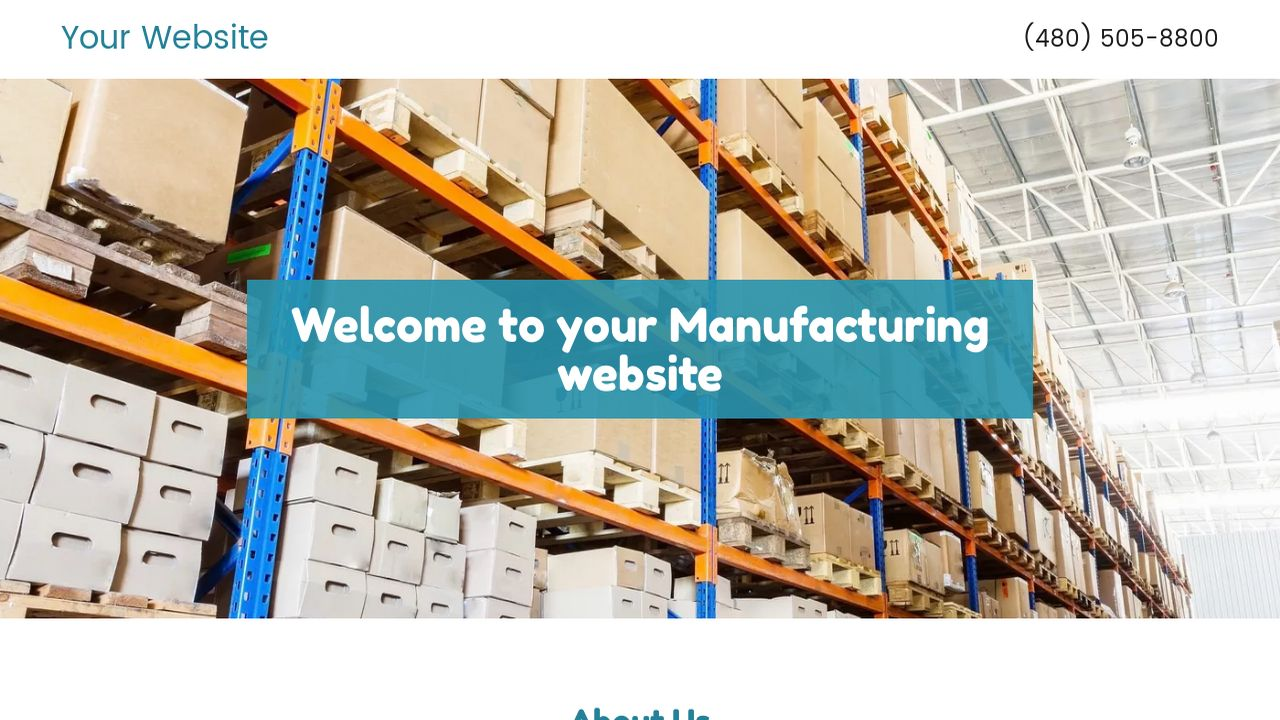 Manufacturing Website: Example 2
