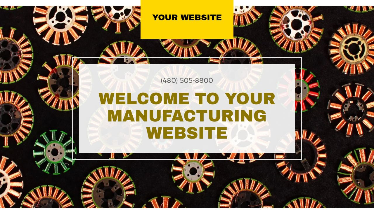 Manufacturing Website: Example 4