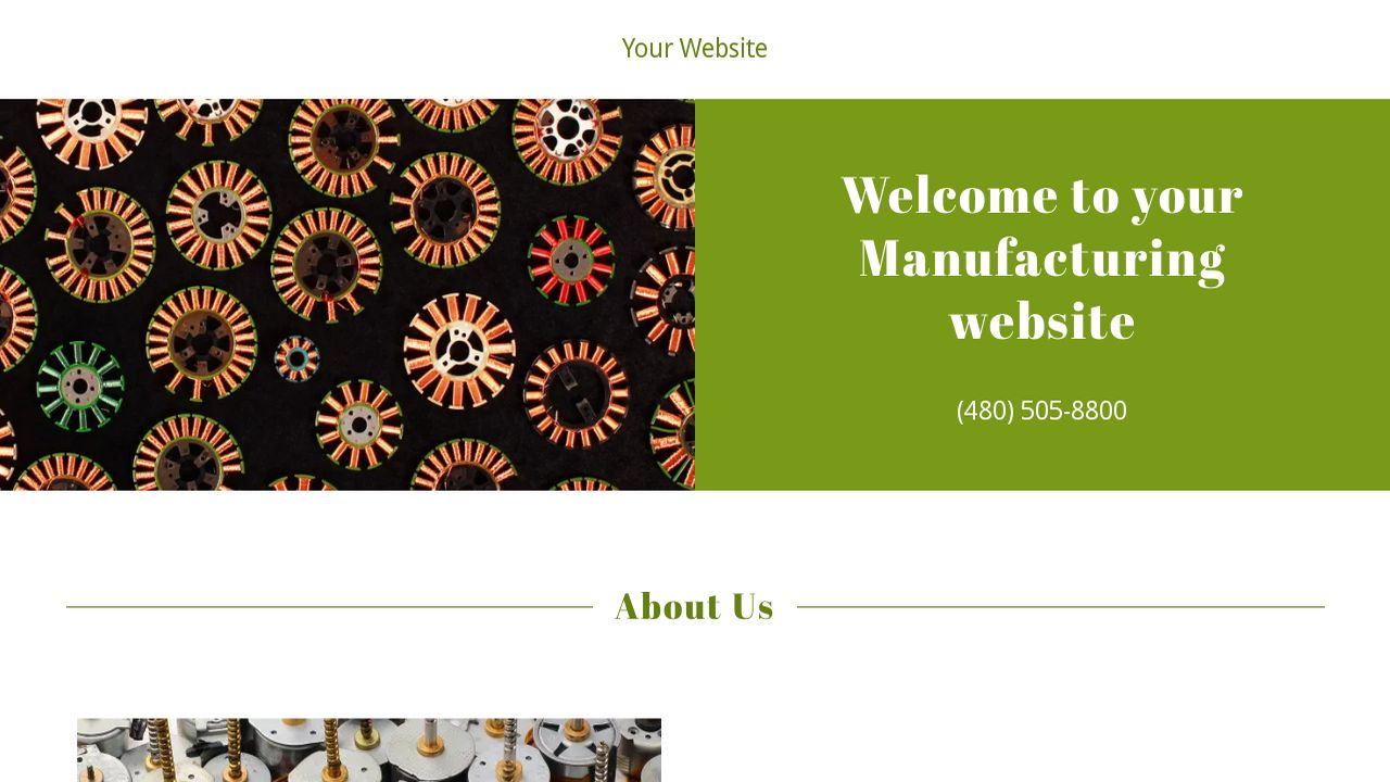 Manufacturing Website: Example 5