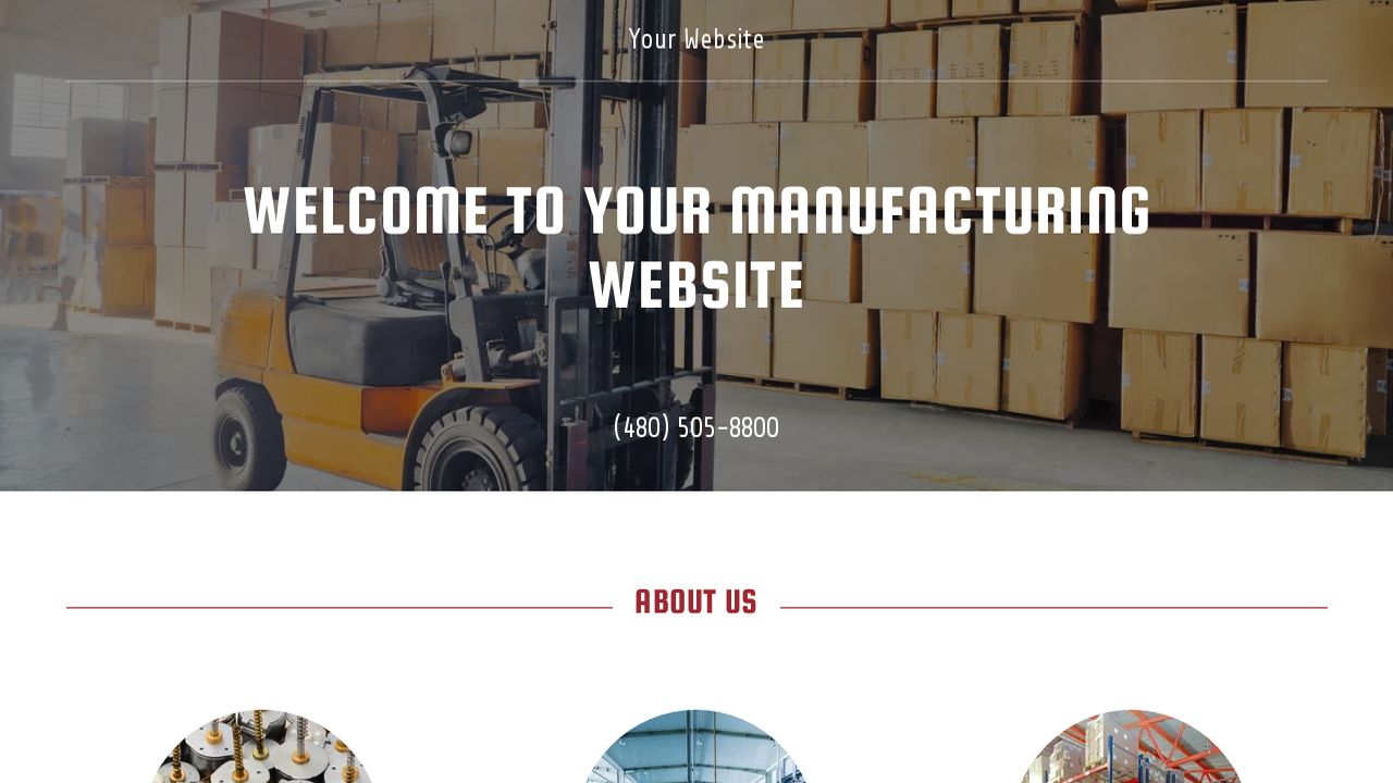 Manufacturing Website: Example 6