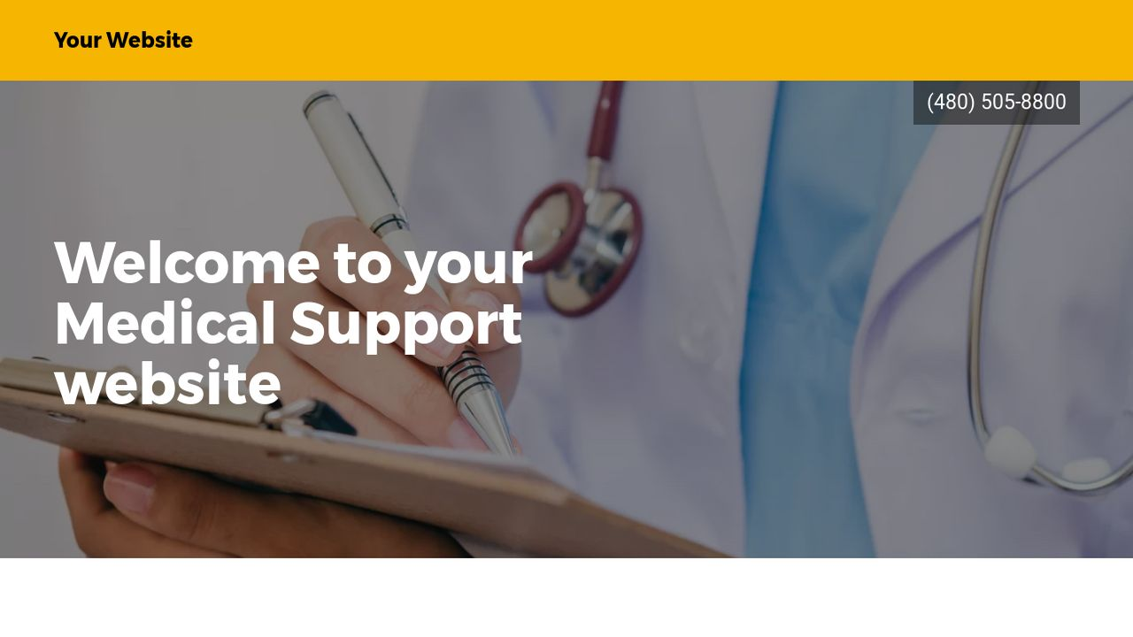 Medical Support Website: Example 10