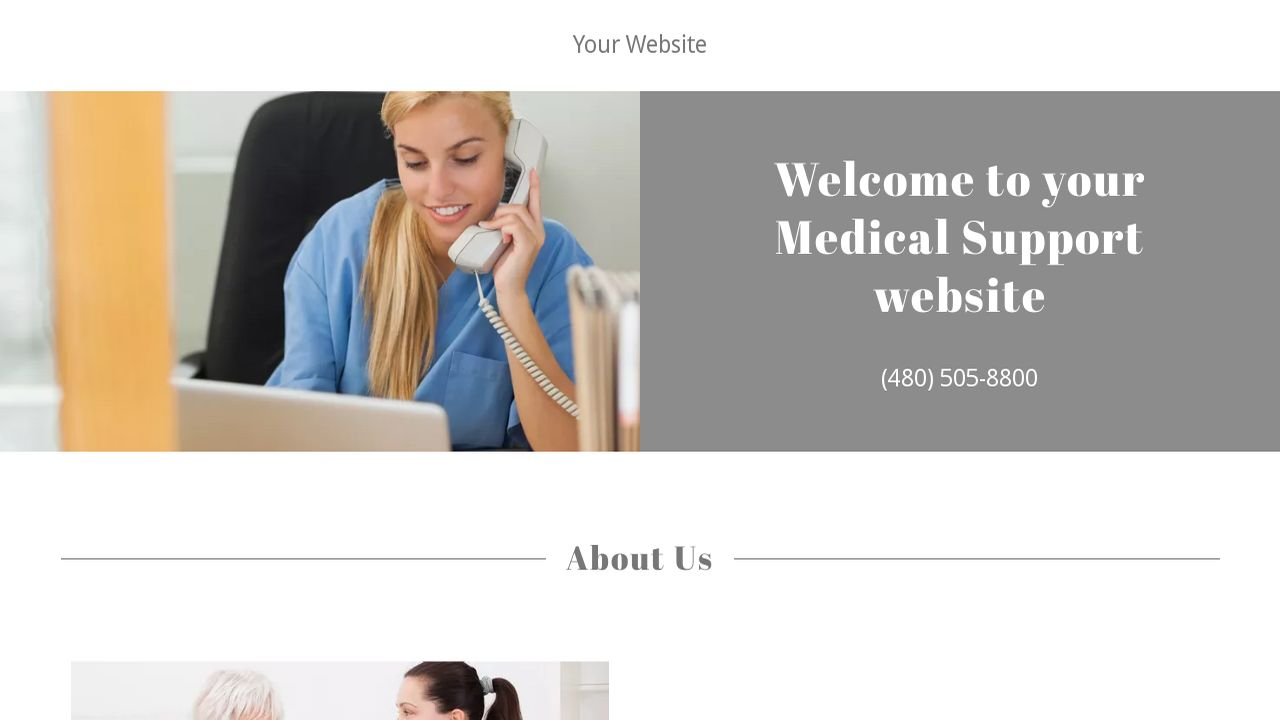 Medical Support Website: Example 15