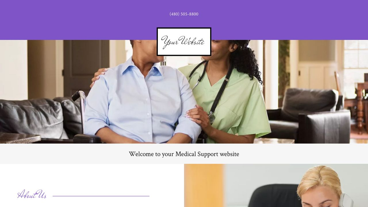 Medical Support Website: Example 4