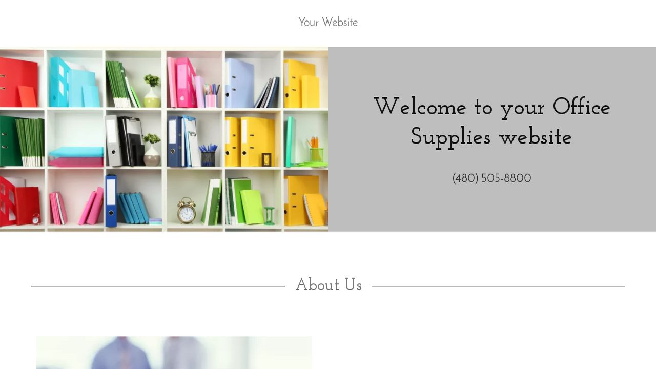 Office supplies website templates godaddy for Godaddy ecommerce templates