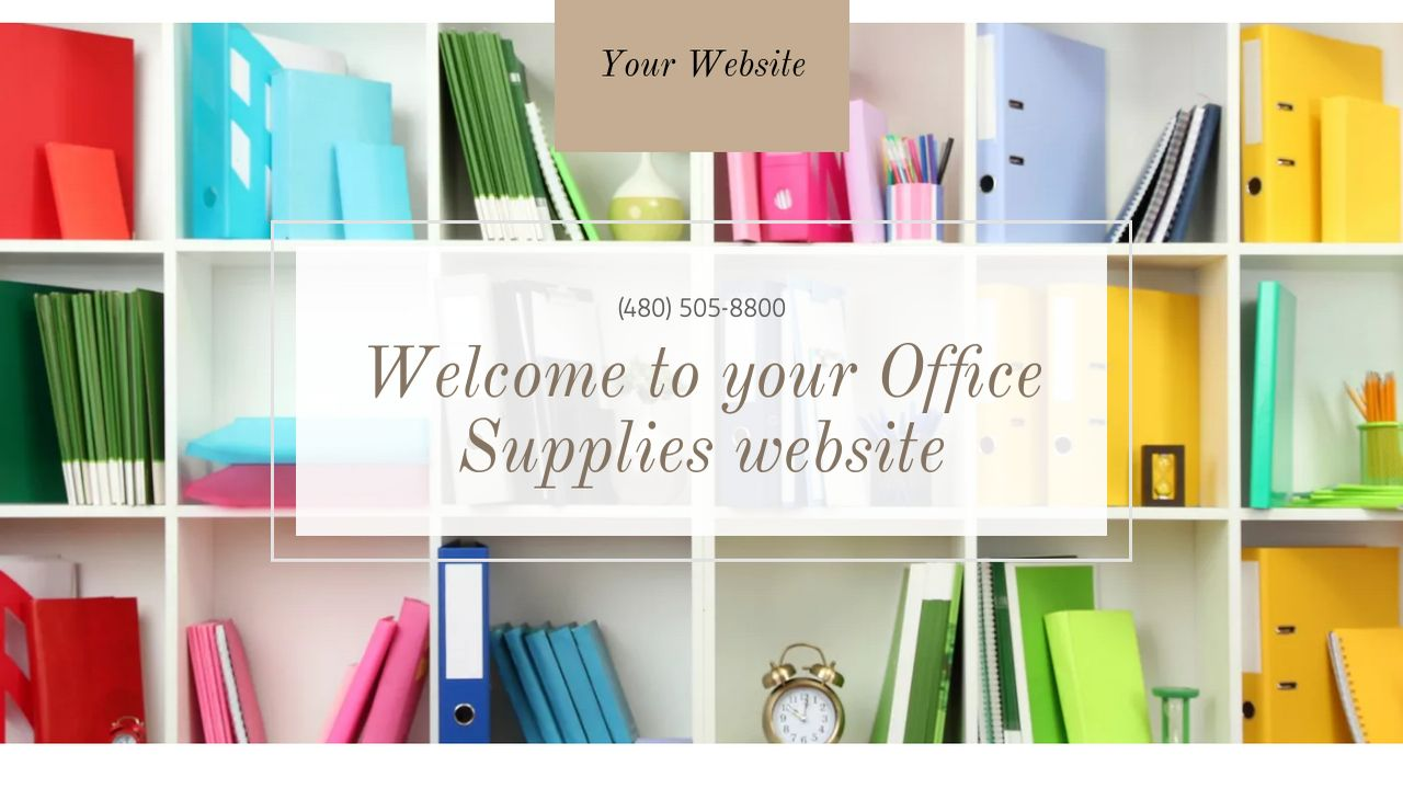 Office Supplies Website: Example 10