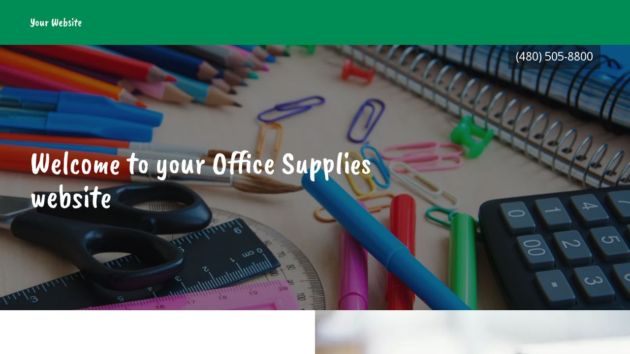Office Supplies Website: Example 13