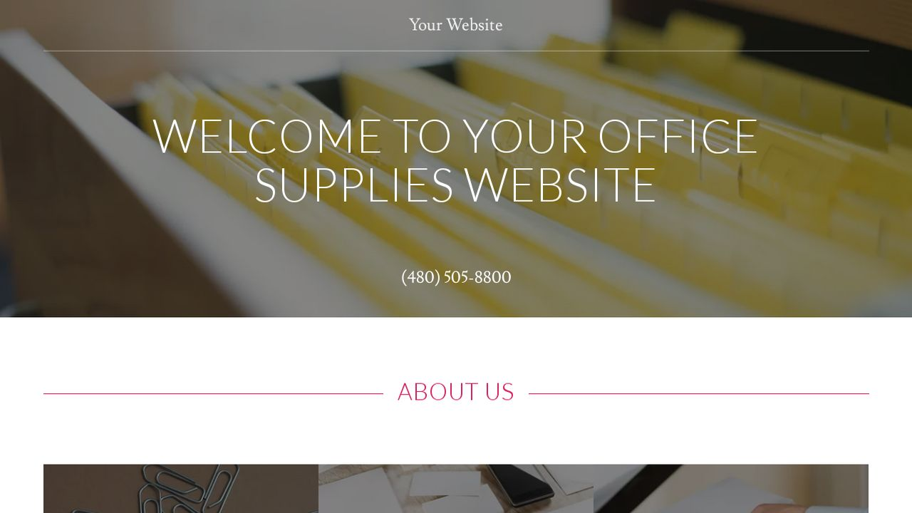 Office Supplies Website: Example 14