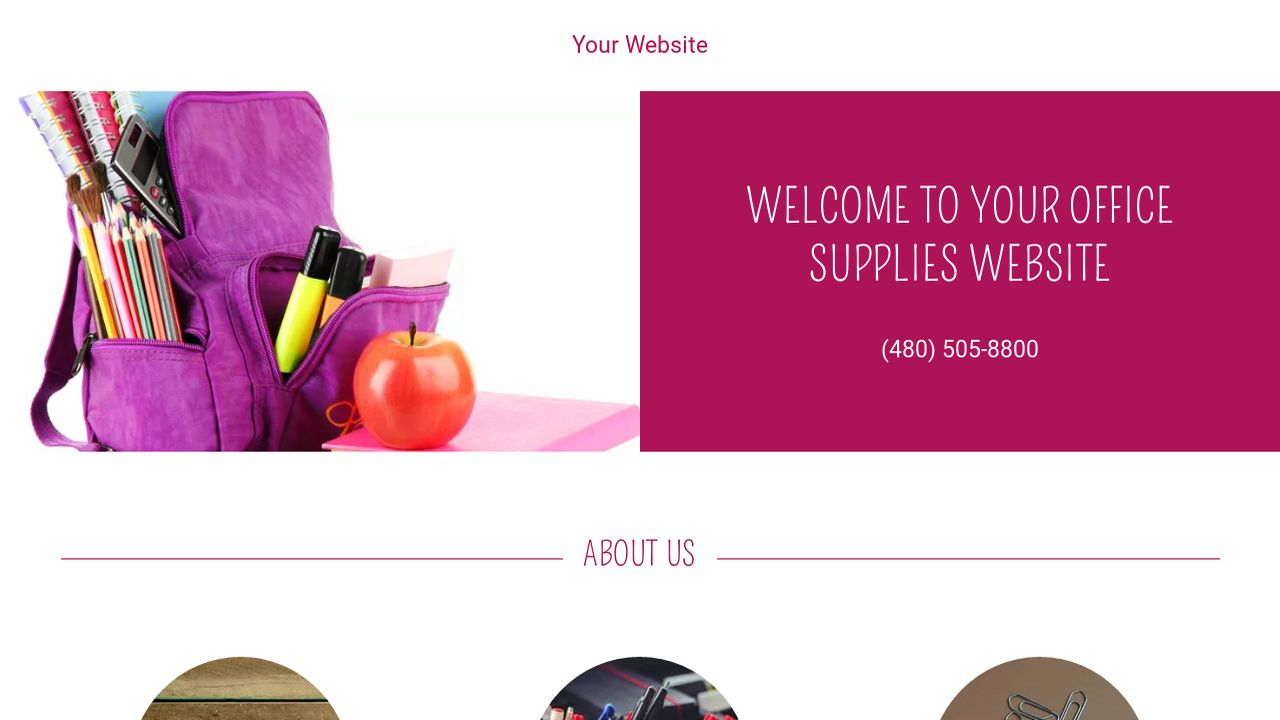 Office Supplies Website: Example 15