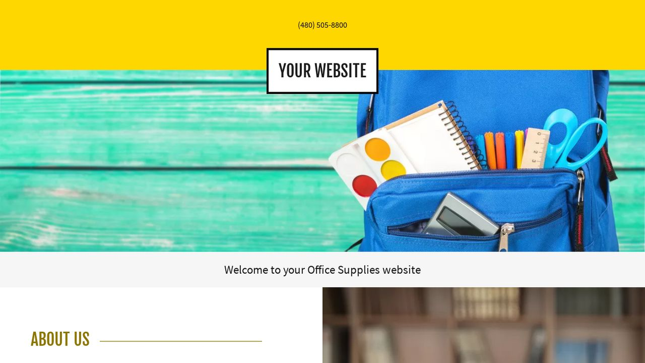 Office Supplies Website: Example 18