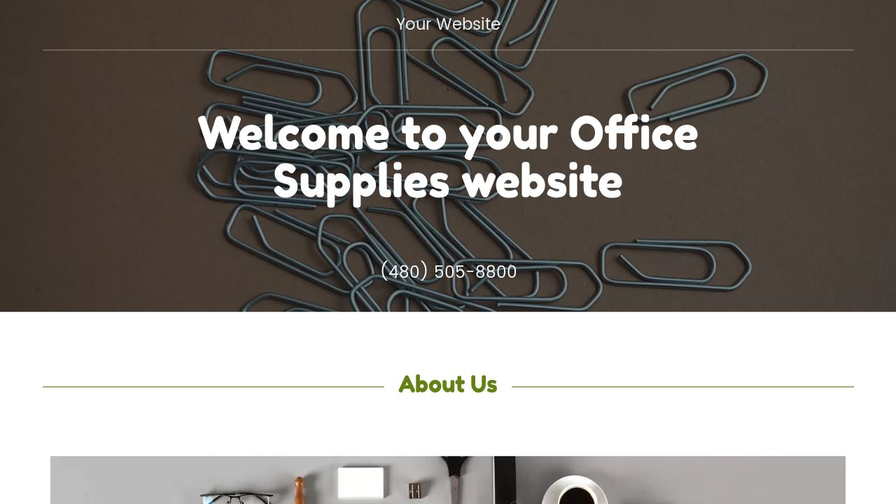 Office Supplies Website: Example 7