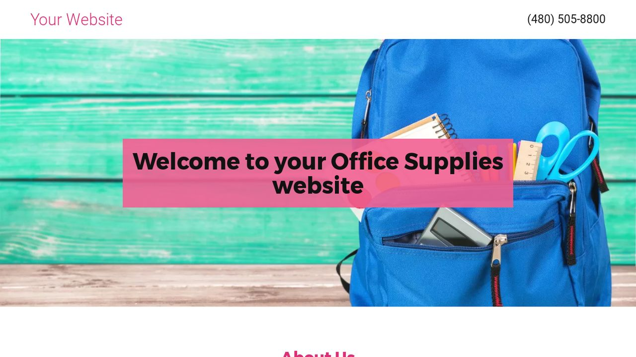 Office Supplies Website: Example 9