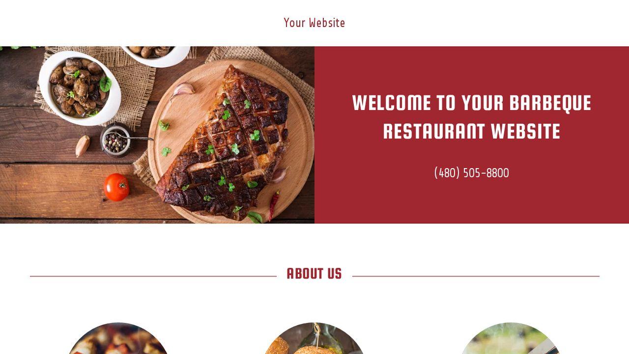 Barbeque Restaurant Website Templates | GoDaddy