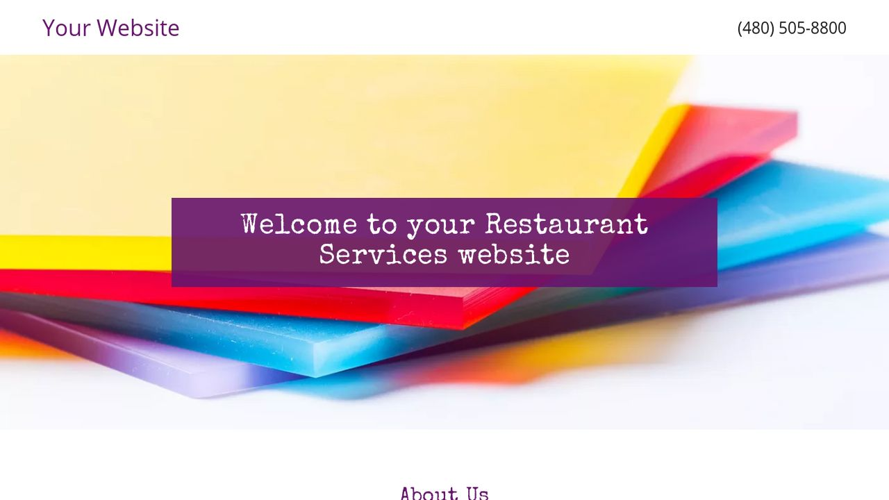 Restaurant Services Website: Example 1