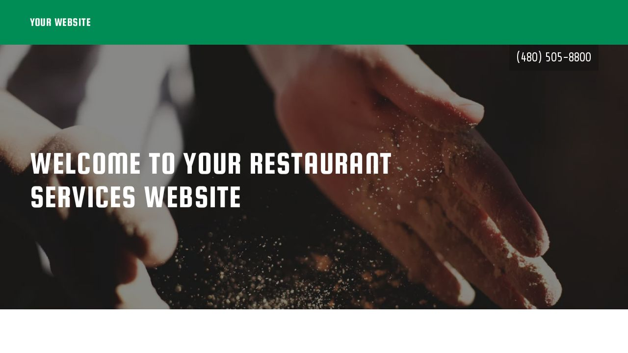 Restaurant Services Website: Example 10