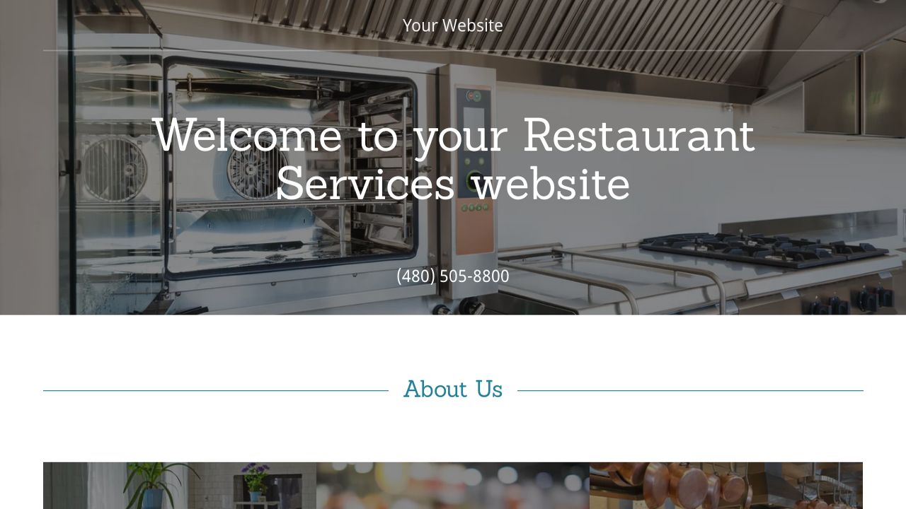 Restaurant Services Website: Example 13