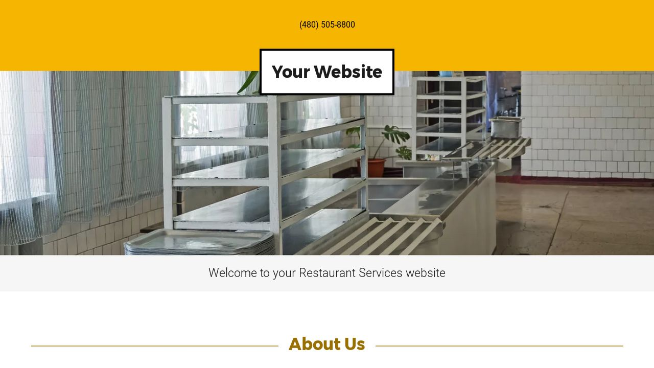 Restaurant Services Website: Example 14