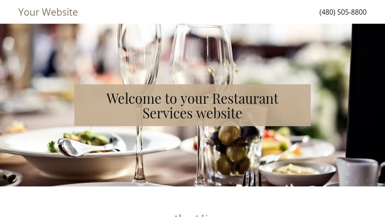 Restaurant Services Website: Example 15
