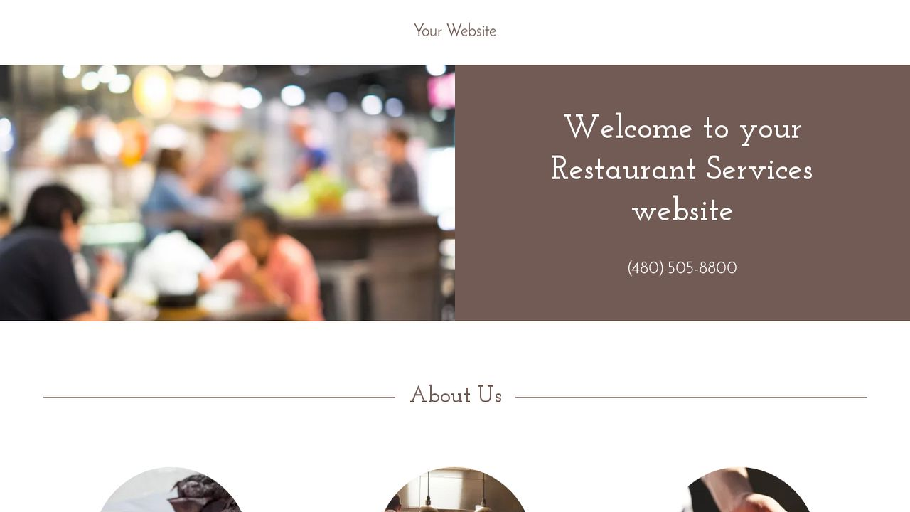 Restaurant Services Website: Example 16