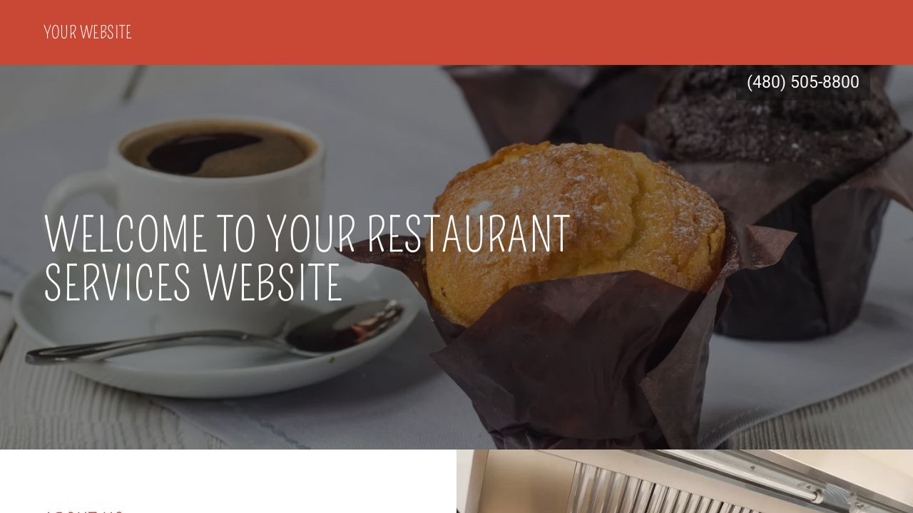 Restaurant Services Website: Example 17