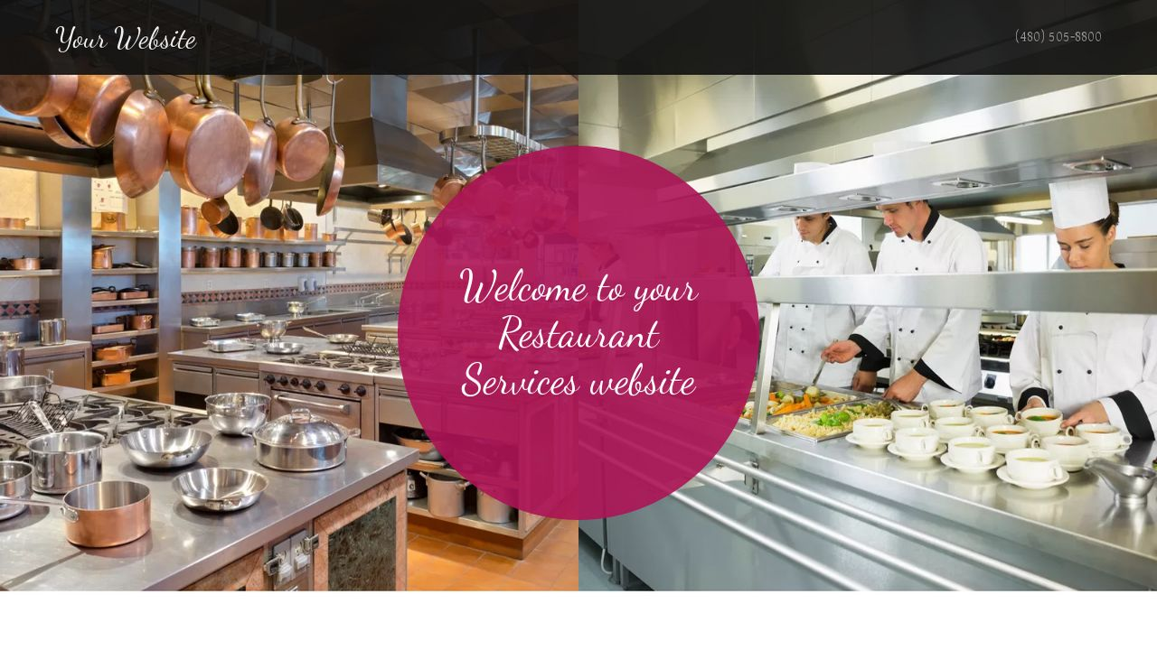 Restaurant Services Website: Example 18