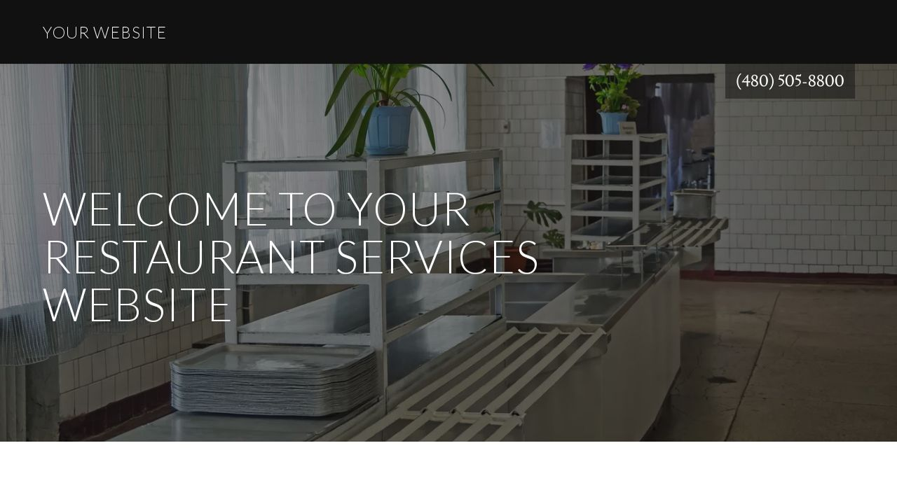 Restaurant Services Website: Example 3