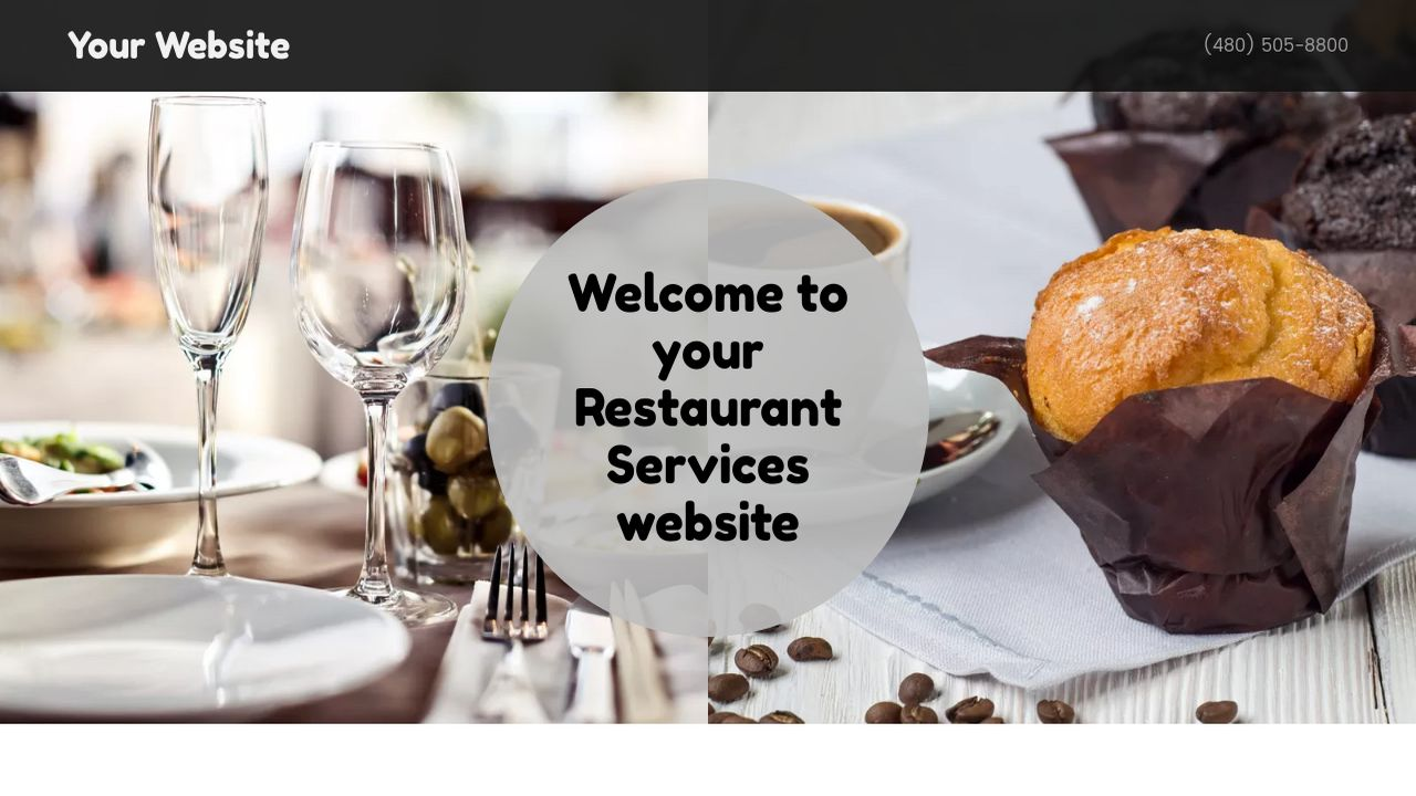 Restaurant Services Website: Example 4